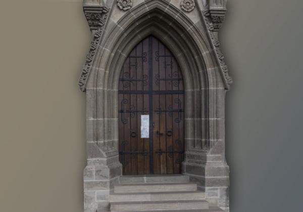 Vstupná brána gotickej kaplnky sv. Michala