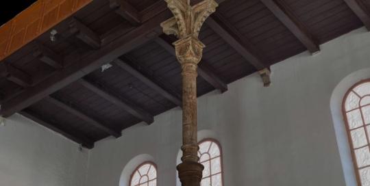 Časť interiéru prízemia budova synagógy v Trnave