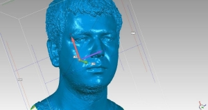 3D model ľudskej tváre
