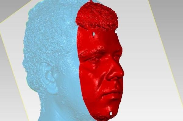 3D skenovanie ľudská tvár