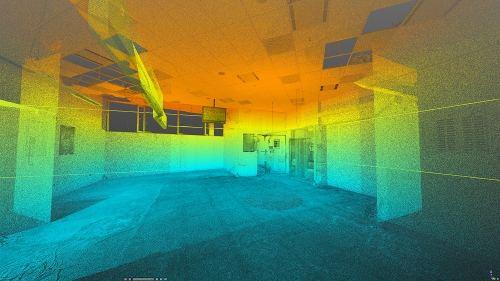 3D skenovanie interiérov stavieb