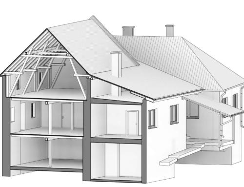BIM model stavby